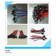 Fio do conector das tiras da lâmpada do diodo emissor de luz do cabo do par do conector de 2pin