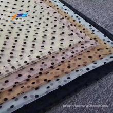 100% polyester floqué tissu Abaya en voile tissé floqué