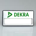 Hecho en China Diseño personalizado Placa de nombre de placa de nombre rectangular magnética barata