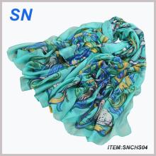 Bufanda floral de la manera del resorte 2015 para las mujeres