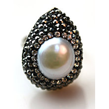 Fashion Crtstal Pearl Ring Rings Jewelry