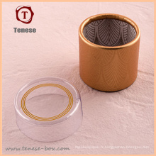 Boîte cadeau en tube de haute qualité avec couvercle