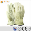 cowhide leather elastic driver gloves safety protection driver gloves