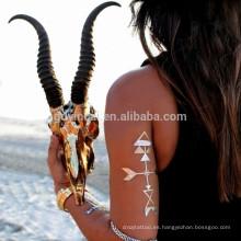 Bling Bling decoración del cuerpo de metal duradera sin veneno joyería etiqueta engomada del tatuaje