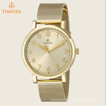 Оригинальные часы Timesea с аналоговым дисплеем Кварц Gold Watch 72497
