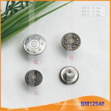 Qualität Kundenspezifische Metall Jean Button Hersteller BM1264