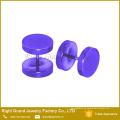 Großhandel Titan Anodized Gold Rainbow Überzog 10mm Custom Fake Plugs Ohrringe