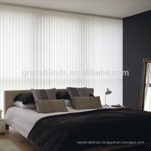 Customized motorized fabric vertical blinds