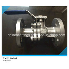 ISO 5211 Casting Handling Operated Stainless Steel Flanged Ball Valve