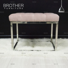 High end modern household living room accent bench seat with metal legs