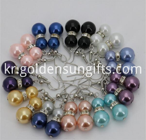 8mm 10mm Sea Shell Pearl Eardrop Earrings