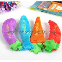 Plüsch gefüllte Gemüseform Haustier Katze Spielzeug mit Squeaker Bosw1082 / 16cm