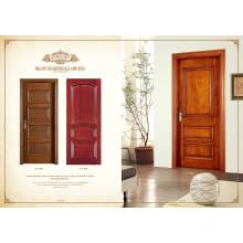 Porta de madeira com encadernação interior interior barata