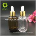 50мл толстые стены ПЭТГ бутылки капельницы прозрачная бутылка блестящий золотой капельницы