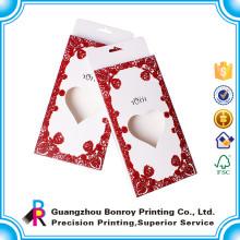 Caja de empaquetado del regalo del chocolate de la forma del corazón para la invitación de la boda