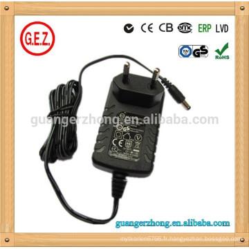 Vente chaude 15v 1.5a kc adaptateur secteur