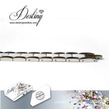 Destino joias cristais de Swarovski cerâmica branco pulseira