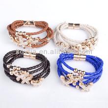 Wholesale 2014 new product genuine leather bracelets