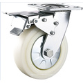 4 Inch Heavy Duty Plate Swivel Nylon Caster with Dual Brake