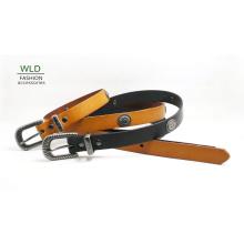 Moda rebite Stud Basic Genuine Top cinto de couro Lky1162