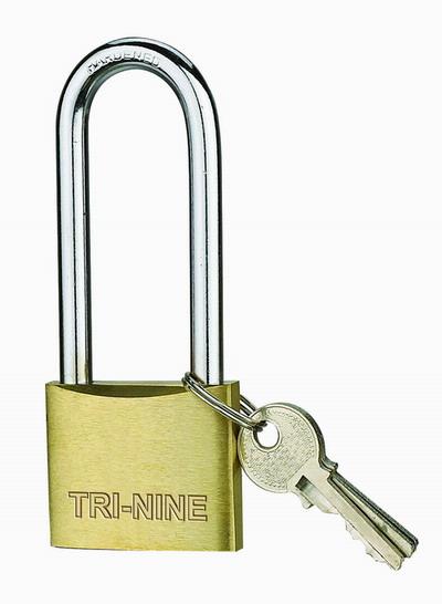 m-long shackle brass padlock