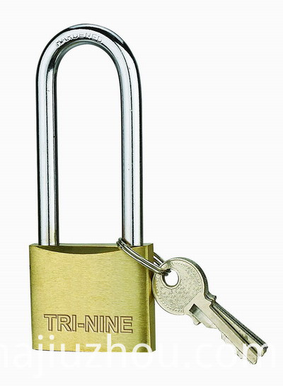 m-long shackle brass padlock