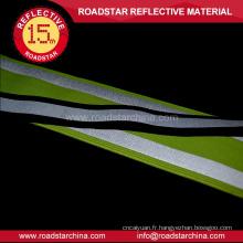 Attention le ruban vert en polyester lycra réflexe