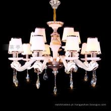 Lustre branco lustre de lustre de teto de zinco pendurado iluminação 88636