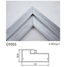High Quality Kitchen Cabinet Aluminum Profile with Brushed Silver