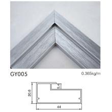 Gabinete de cozinha de alta qualidade perfil de alumínio com prata escovado