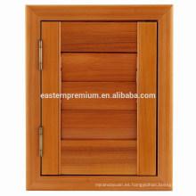 Persianas de ventana corredizas de cedro rojo natural directo de fábrica