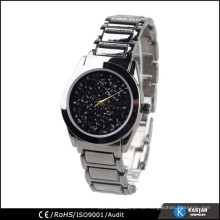Edelstahl Kette schwarz Farbe Qualität Armbanduhr Quarz