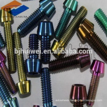 colored Gr5 Titanium Taper Head Socket Drive Machine Screw