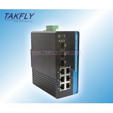 10/100 / 1000m Montaje en carril DIN Industrial Ethernet Switch