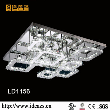 Stainless Steel Modern Square K9 Crystal Ceiling Light