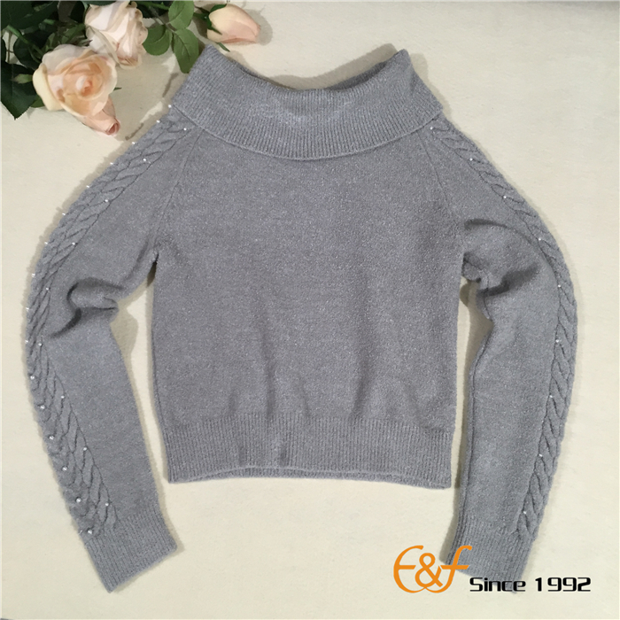 Strapless Collar Sweater for Lady