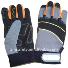 Hot synthetic leather safety anti-shock mechanic gloves ZM892-H