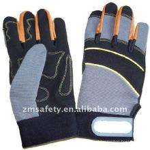 Luvas mecânicas anti-choque de segurança de couro sintético quente ZM892-H