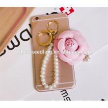 Späteste dekorative Perlenschlüsselkette entwirft Lieferantenblumen keychain