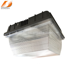 Low-profile exterior ceiling mount LED Garage canopy luminaire