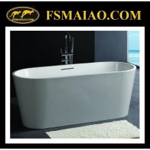 Bañera de resina de piedra Elipse estándar independiente Matt White (BS-8604)