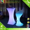 Outdoor wiederaufladbare wasserdichte LED Cocktail Tisch Used Nightclub LED Cocktail Tisch Möbel zum Verkauf