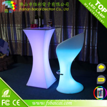 Outdoor Rechargeable Waterproof LED Cocktail Table Occasion Nightclub LED Cocktail Table Furniture à vendre
