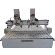 barato máquina de cinzeladura de madeira do cnc 3d com o eixo do sistema refrigerar de ar, varredor 3d