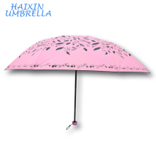 Made in China Discount Yiwu Stock Tiantangmei Brand 3 fold Sun Wholesale Cheap Assorted Dubai Large Market Umbrella Commercial