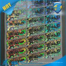 Autocollant d'hologramme de sécurité de numéro de série adhésif anti-contrefaçon de haute qualité