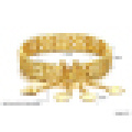 Pulsera hueca chapada en oro de 18 quilates de Elegance para mujer