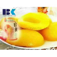 Natürlicher grüner gelber Pfirsich in Sirup