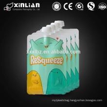 hot sale spout pouch/liquid stand up pouch with spout/reusable spout pouch bag