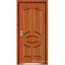 Puerta blindada de madera de acero del estilo turco, puerta turca (LTK-D037)